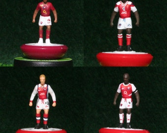 Arsenal Hand-painted Subbuteo Figure Set (x4) - Henry, Wright, Bergkamp and Viera