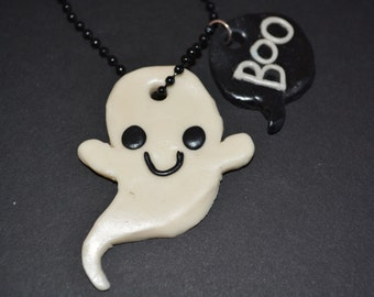 Cute Boo Ghost Necklace