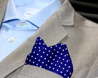 Pocket square, Man accessories, Handkerchief a pois