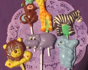 Jungle Animal chocolates lollipops