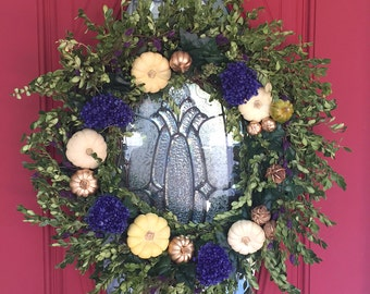 Elegant Fall Wreath, Thanksgiving Wreath, Front Door Wreath, Holiday Decor