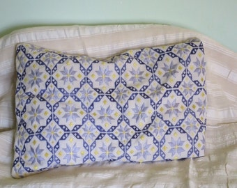 "Traditional hand embroidered cushion/1930's Northern Greece/Perfect condition/size 44""x27""/ traditional pillow cover."