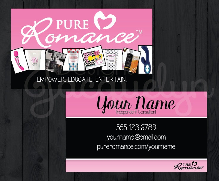 Sale pure romance consultant business cards by mycrazydesigns for Pure romance business cards