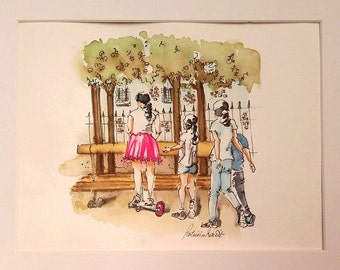 The Pink Skirt at Place Des Vosges