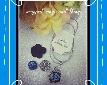 snap interchangeable button jewerly necklace set