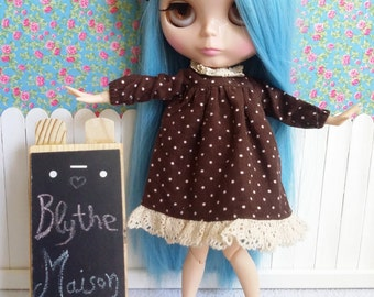 Dress for BLYTHE/Pullip and Pure Neemo brown corduroy