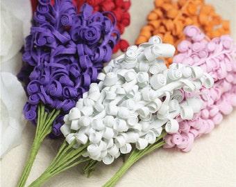 Bunch of 10-Foam Flower Stems,Artificial Plants Branches,Wedding Decor Gift,Miniature Bridal Boutonnieres,Bridal Flower,Milinery Flower