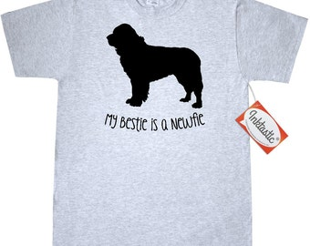 Bestie Newfie T-Shirt by Inkastic