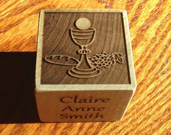 "2"" First Communion block"