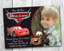DIGITAL FILE - Disney Cars Invitation - Cars Birthday Party Invitation - Disney Cars Printable - Cars Invitations - Lightning McQueen Invita