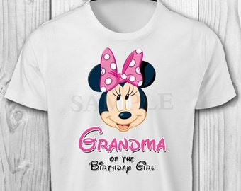 DIGITAL FILE - Minnie Mouse Grandma of the Birthday Girl - Minnie Mouse Birthday Iron On Transfer - Minnie Mouse Birthday Shirt Printable