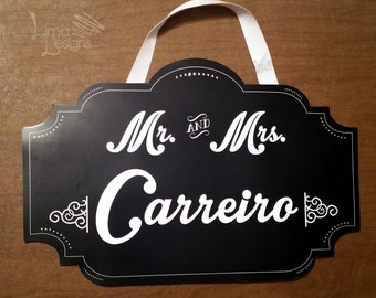 Mr. and Mrs. Photo Prop / sign