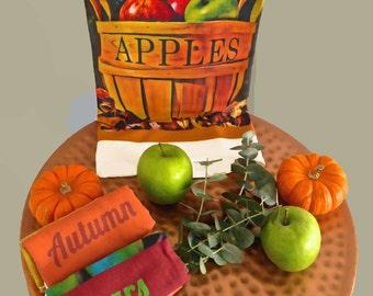 Apple Basket Flour Sack Towel