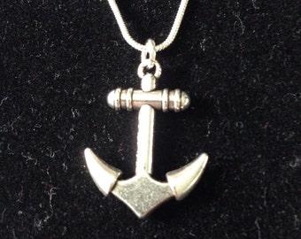 Anchor pendant necklace (2)