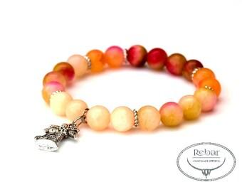 "Elastic Bead Bracelet ""Tropical"""