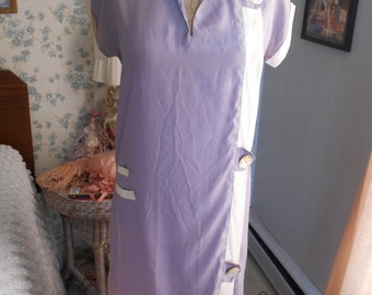 Awesome 1920's Purple/White Drop Waisted Dress very Miss Fisher/Flapper