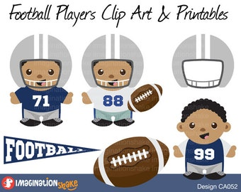 Dallas Cowboys Football Players Clip Art & Printables Set CA052 / Clipart / Football Wall Decorations / Football Birthday Party Printables
