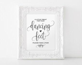 Dancing Shoes Sign, Dancing Feet Sign, Wedding Dancing Shoes Sign, Wedding Printable, Wedding Sign, PDF Instant Download #BPB203_74