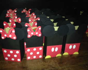 Minnie and Mickey Mouse favor bags