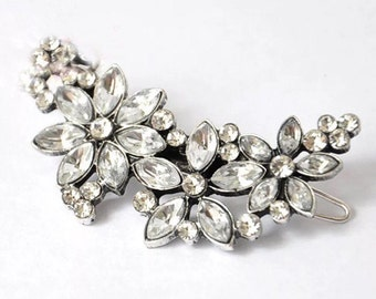 Vintage Style Diamante Bridal Hairclip Wedding Accessory for Bride Hair