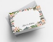 Printable Botanical Garden Floral Thank You Card - Wedding Thank You Printable- Custom Thank You Notes - Letter or A4 Size (Item code: P049)
