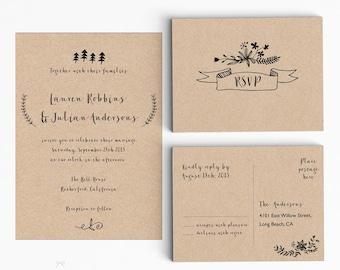 Modern Wedding Invitation Suite Wedding Invitation Printable