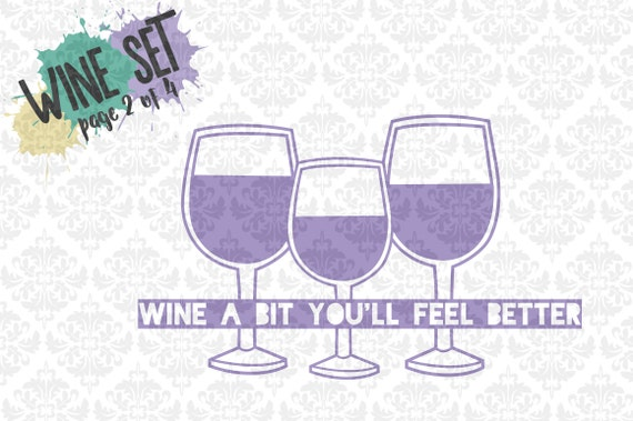 Wine Glasses Wine cups Coffee Relax You Deserve It Set SVG DXF Ai Eps PNG Vector Instant Download Commercial Cutting FIle Cricut Silhouette