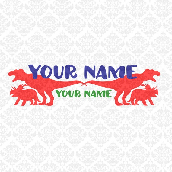 Dinosaur Tyrannosaurus Triceratops Personalizable SVG DXF STUDIO ai eps png scalable vector instant download commercial use cutting file