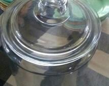 Vintage Tall Apothecary Jar/Vintage Biscuit Jar/Vintage Cookie Jar/Retro Kitchen Decor/Farm Kitchen Decor
