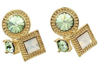 Fashion golden rim crystal earrings