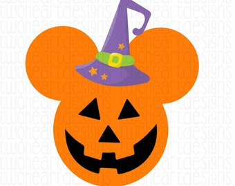 Minnie Pumpkin Halloween Iron On - - INSTANT Download - You Print