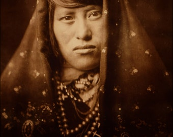 24x36 Poster . Acoma Woman Native American Indian 1905