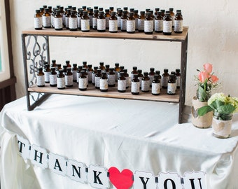 Pure Baking Extract Favors with Personalized Labels - 2oz.