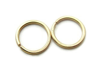 Gold Cartilage Hoop Earrings Tragus 2nd Piercing, Very Tiny 7mm SNUG fit