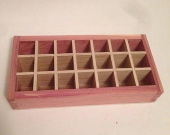 Wood Box/tray/storage/rack/makeup holds 21 (15ml) bottles/Essential Oil Starter Kit Storage