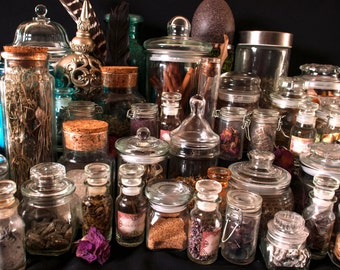 Complete Apothecary Kit/ 82 Herb Kit/ Witch's Cabinet