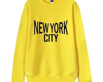 "Men Sweatshirt, Women Sweatshirt, Gift for dad, Gift for him, ""New York City"" Typography French Terry Sweater"