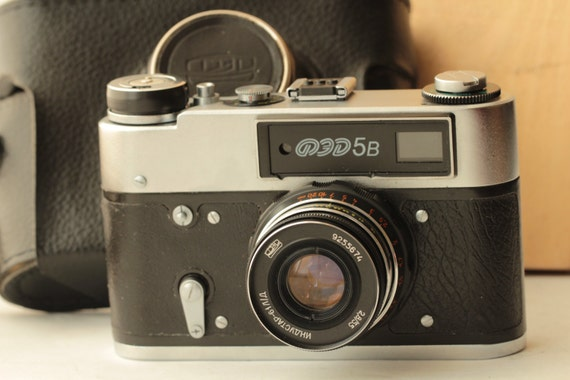 Ussr Camera FED-5B and  Industar-61L/D 2,8/55 Soviet  and  Black Case #2 ж