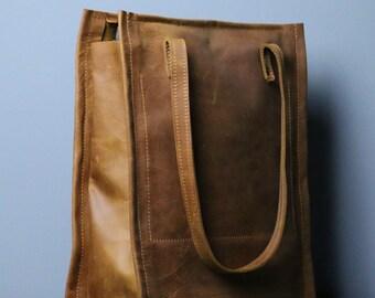 leather tote bag ,handmade leather bag ,tote bag ,large leather bag,waxed leather bag,borsa di cuoio,