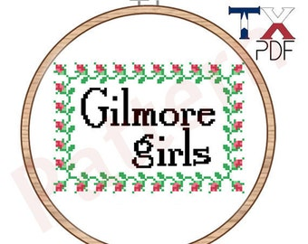 Gilmore Girls cross stitch pattern