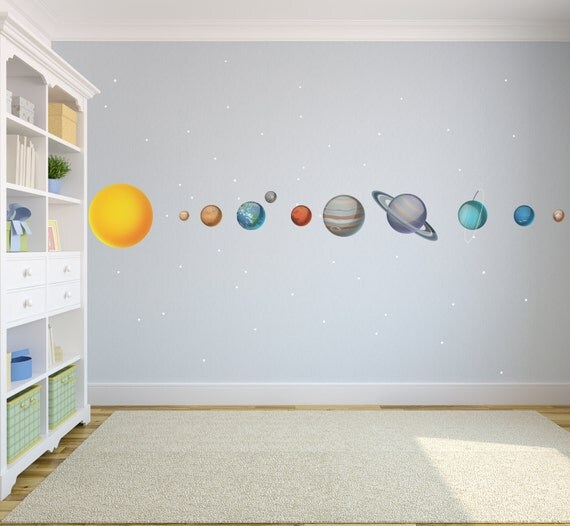 Kids Solar System Wall Decals WDSET10019