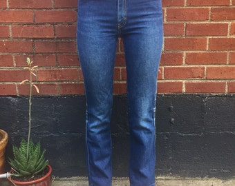 Vintage straight leg jeans/flower pockets/23/24