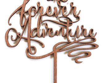 The Forever Adventure Cake Topper nautical