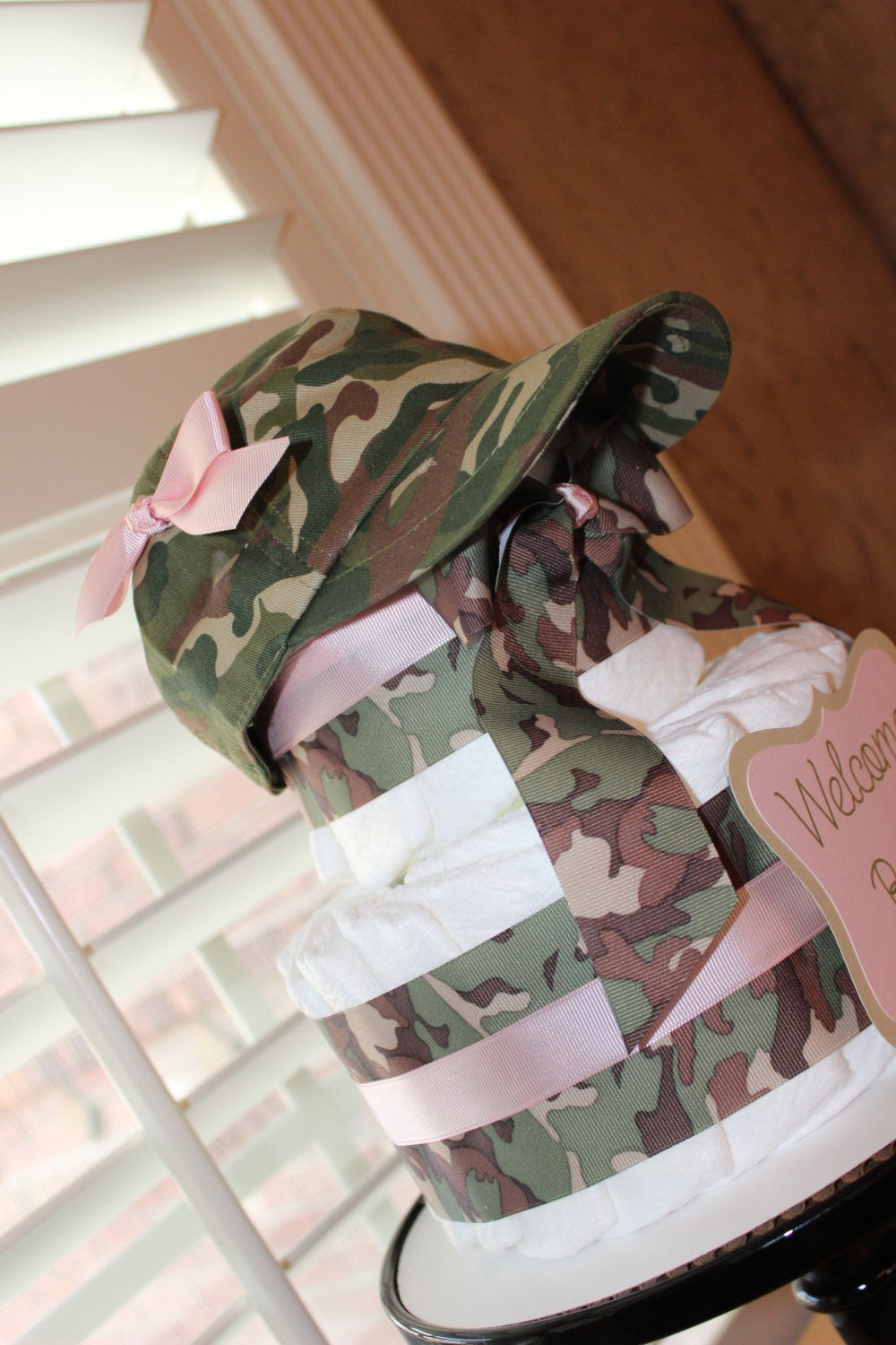 camo diaper cake camo baby shower by everylittledetailllc