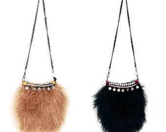 Tribal leather bag