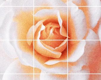 Good Morning Rose Tile Mural Painting Back Splash Kitchen Home Decor Art