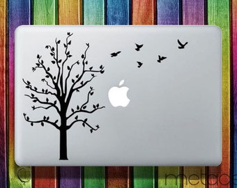 "Tree and Birds Macbook Sticker Decal 13"" 15"" - laptop stickers, macbook stickers, macbook decals, macbook sticker, macbook pro stickers"