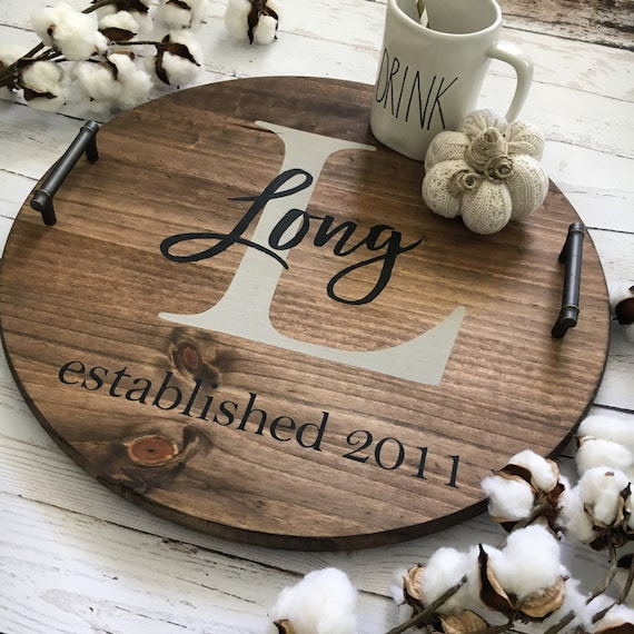 Personalized Serving Tray Wood Serving Tray Serving Tray