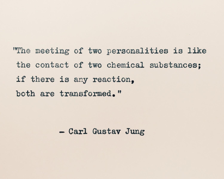 Success Citaten Jung : Carl jung liebe zitat das treffen zweier persönlichkeiten