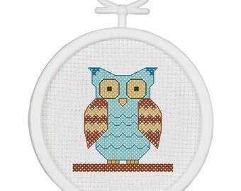 Janlynn Cross Stitch Kit - Owl, #021-1484 ***Free Shipping***